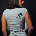 Black Helmet Apparel - Love Fire V neck 2