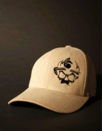 Black-Helmet-Apparel---Skull-Logo-Flexfit-Hat---Khaki-S