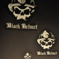 Black Helmet Apparel - Skull Logo Sticker Pack White