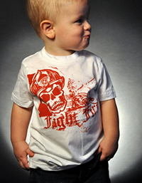 Black-Helmet-Apparel---Crimson-Skull-Kids-T-S