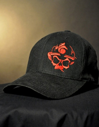 Black-Helmet-Apparel---Skull-Logo-Flexfit-Hat---Black---Red-2 S