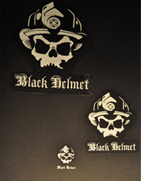 Black-Helmet-Apparel---Skull-Logo-Sticker-Pack-White-1-S